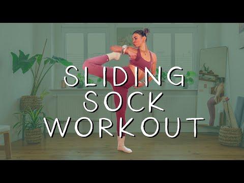 Sliding Sock Workout I Intense Fully Body Yoga Workout | Annelina Waller