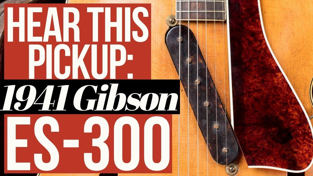 Hear This Rare Gibson Pickup: 1941 Gibson ES-300 Electric Guitar!
