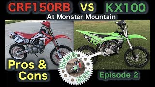 6. Chase's Cuts - Episode 2 - CRF150RB vs KX100 Review and Comparison - Pros and Cons
