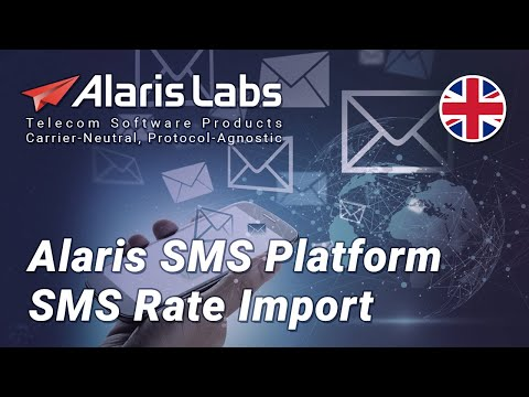 Alaris SMS Platform   SMS Rate Import