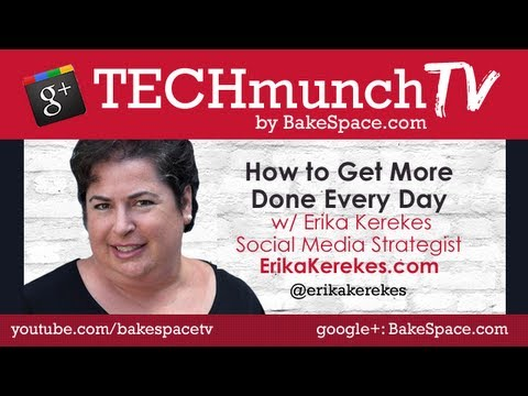 How to get more done with Erika Kerekes on #techmunch TV