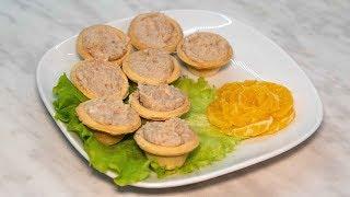Селедочное масло для бутербродов в блендере и украшение из мандарина розой