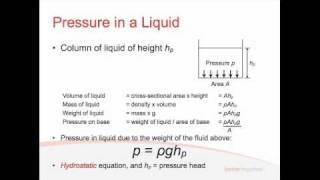 Fluids Lecture 1.1 - Hydrostatic Pressure