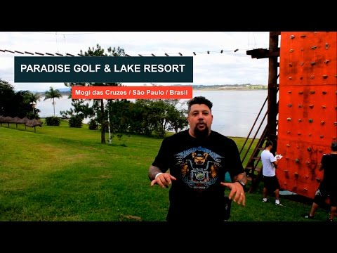 Adrenalina na tirolesa do Paradise Golf & Lake Resort