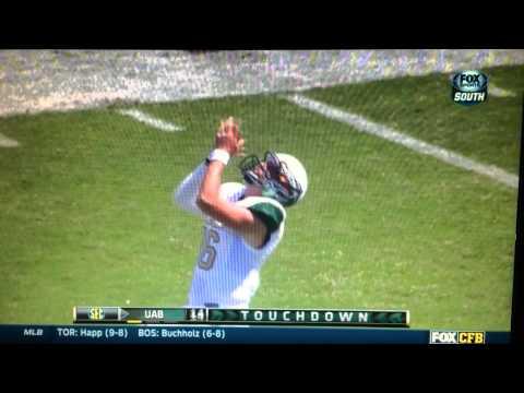 Jamarcus Nelson 88-yard touchdown catch vs Mississippi St. 2014 video.