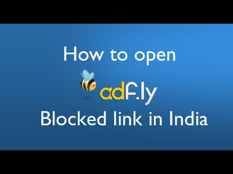adf.ly not opening (adf.ly blocked problem Solved)
