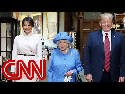 Queen Elizabeth II welcomes Trump to Windsor Castle