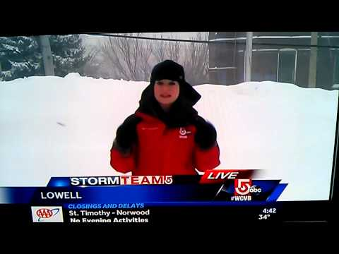 What Did The Reporter Say About The Snow?!?!?! [WATCH]