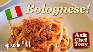 Ingredient list on website: http://wp.me/p2lAo7-jC The famous Salsa (Ragu, Ragout) Alla Bolognese, or Bolognese Sauce. With spaghetti, fettuccine, penne, any pasta you like. We show you how to make it here. It goes well as an ingredient or base for many things - as a key ingredient of lasagne for example. It's in fact a very simple dish, by most versions - and there are quite a variety of them, and there is some patient cooking time involved, but the actual process - very very simple. Most of your cooking time will be spent salivating as it simmers on the stove. Try it and enjoy.Official website:  www.askcheftony.com