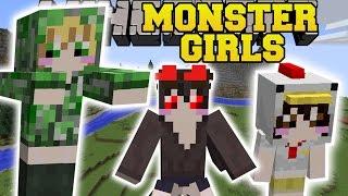 Minecraft: MONSTER GIRLS MOD (A WORLD OF GIRLS!) Mod Showcase