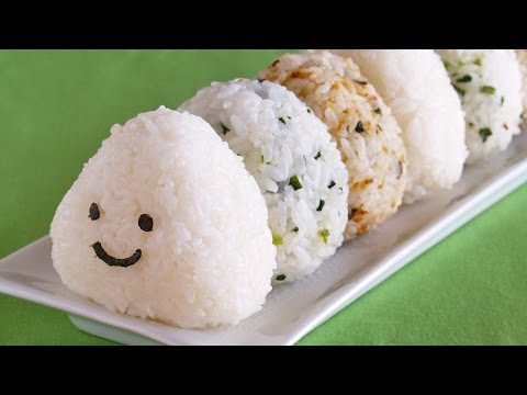 Three (3) Different Easy Japanese Rice Balls Video Recipe – Onigiri – おにぎりの作り方 (レシピ)