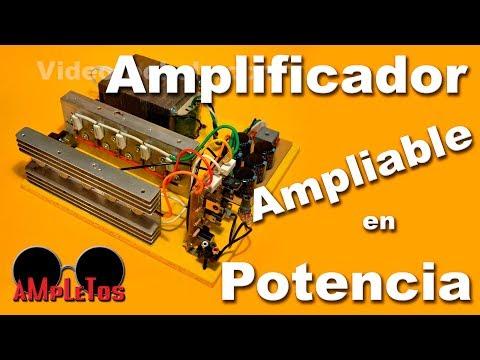 Amplificadores de Potenci - Este amplificador ampliable en potencia lo puede aprender a construir en http://construyasuvideorockola.com/sonido_amp5.php Recuerde que para hacer este proy...