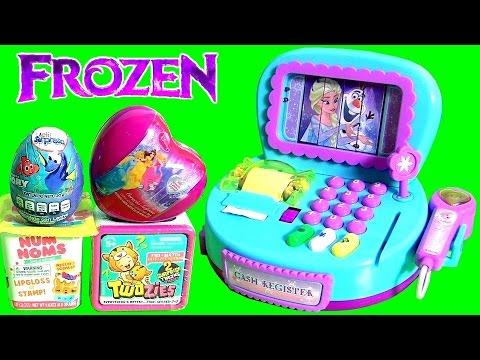 Brinquedo Caixa Registradora de Supermercado da Anna Elsa Disney Frozen em Portugues BR Brasil Toys