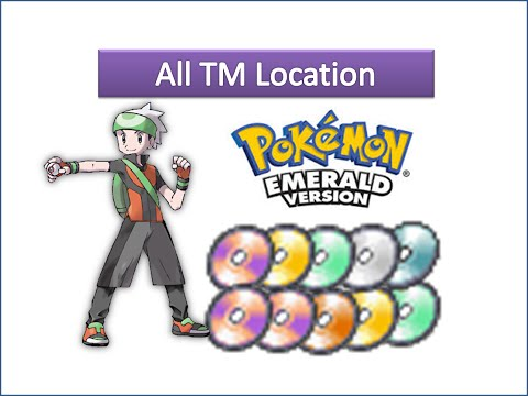 Pokemon Emerald - All TM Locations