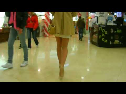 Crossdressing in public Mini skirt and high heels