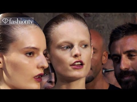 Models Backstage - Try Fashion Water: http://www.fashiontv.com/product/FashionWater http://www.FashionTV.com/videos MILAN - Francesco Scognamiglio says his Spring/Summer 2013 c...
