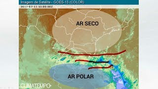 A meteorologista Josélia Pegorim comenta sobre o bloqueio causado por uma grande massa de ar seco que influencia o Brasil e sobre a mudança que deve ocorrer ...