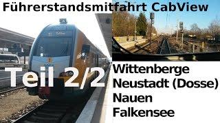 Falkensee Germany  city images : Führerstandsmitfahrt / CabView: RE2 - Wittenberge - Neustadt (Dosse) - Nauen - Falkensee Teil 2/2