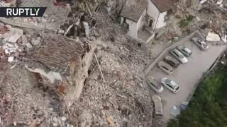 Zone Italy  city photos : Pescara del Tronto Ruins: Drone buzzes earthquake zone in Italy