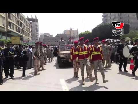 تشييع جثمان شهيد سيناء المقدم «يحيى حسن» في جنازة عسكرية ببني سويف
