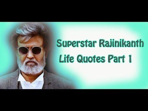 Superstar Rajinikanth Life Quotes  Mass Scenes Inspirational