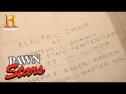 Pawn Stars: RARE, ORIGINAL & EXPENSIVE Blueprint for 1920s Electric Chair (Season 8)   History
