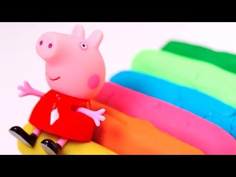 PEPPA PIG  Aprende los colores con churros de plastilina Play Doh