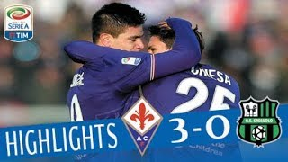 Video Fiorentina - Sassuolo 3-0 - Highlights - Giornata 15 - Serie A TIM 2017/18 MP3, 3GP, MP4, WEBM, AVI, FLV Maret 2018