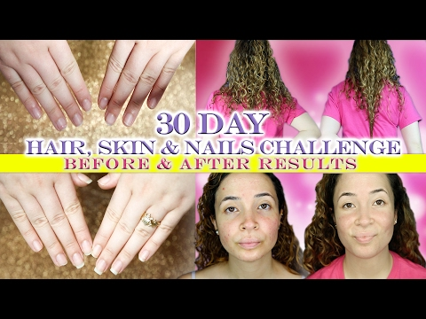 NATURE'S BOUNTY 30 DAY HAIR, SKIN, & NAILS CHALLENGE: BEFORE & AFTER RESULTS