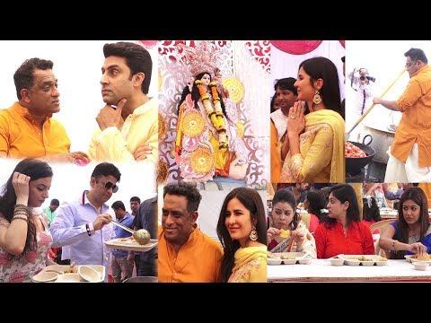 Katrina Kaif , Abhishek Bachchan, Divya Kumar Khosla At Saraswati Puja of Anurag Basu