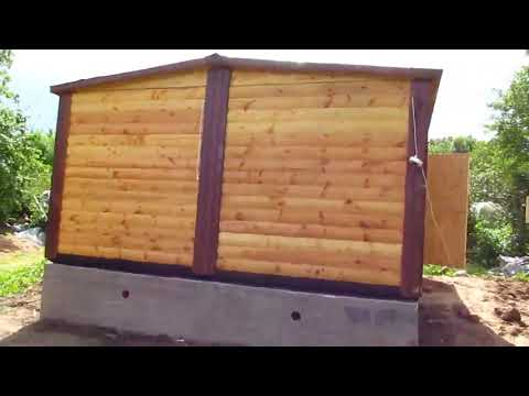 Видеообзор модульного дома из профилированного бруса 4,6х6,0 м