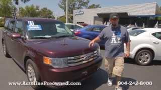 Autoline Preowned 2011 Ford Flex SEL For Sale Used Walk Around Review Test Drive Jacksonville