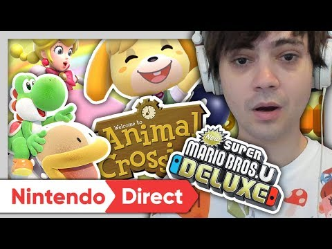 ANIMAL CROSSING, LUIGI'S MANSION, YOSHI, NEW SUPER MARIO ! RÉACTION NINTENDO DIRECT SEPTEMBRE 2018 ! (видео)
