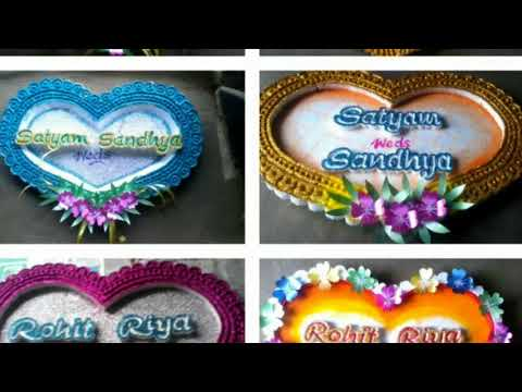 Wedding Name Plate Designs Thermocol Cutting Work Action News Abc