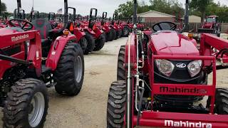 5. Comparison between the Mahindra 2538 and the 2638