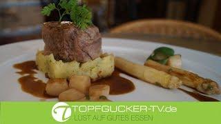 Medaillon vom Kalbsfilet | glasierter Spargel | Kartoffelstampf | Topfgucker-TV