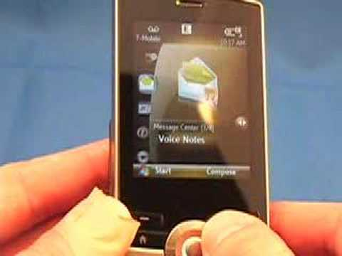 T Mobile HTC Shadow Slider Phone Video