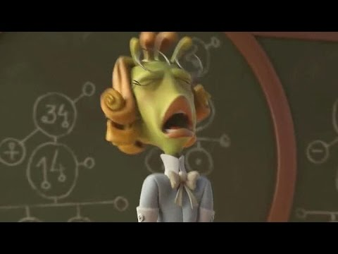 """(Slow Motion) Hysterical teacher - """"Planet 51"""" (2009)"""