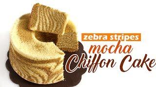 Zebra Stripes Mocha Chiffon Cake