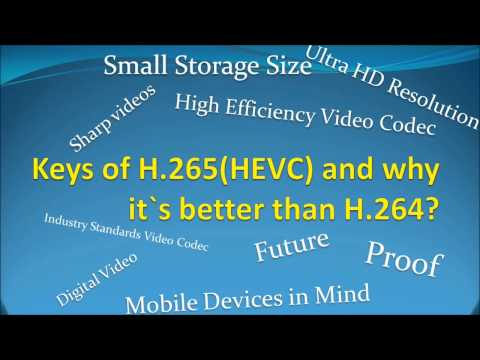 H264 - What is H.265 video codec? Review H.265 video codec. Specifications H.265 video codec? By watching this video you will get the information about H.265 video ...
