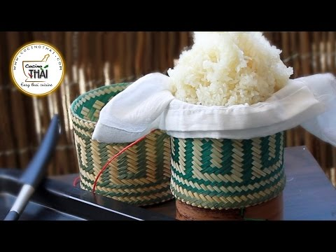 Como Preparar Arroz Glutinoso | How To Make Sticky Rice (ข้าวเหนียว)