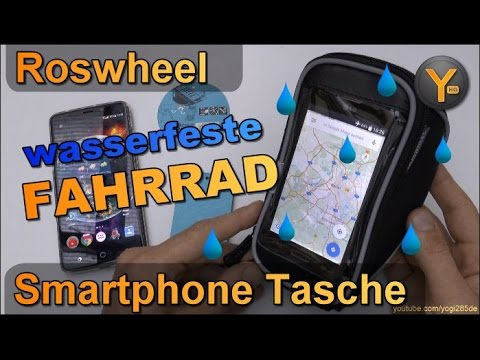 Review: Roswheel wetterfeste Smartphone Tasche für Fahrrad-Lenker (bis 5 Zoll Smartphones)