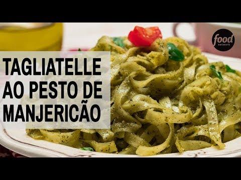 TAGLIATELLE AO PESTO DE MANJERICÃO | COZINHA FOOD NETWORK