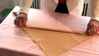 How To Make Christmas Napkins - YouTube