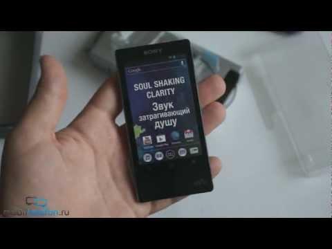 Распаковка Sony Walkman NWZ-F806 (F804, F805) и наушников MDR-1RNC