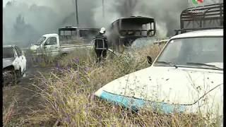 Incendie : des dizaines de véhicules victimes des flammes à Constantine- Canal Algérie