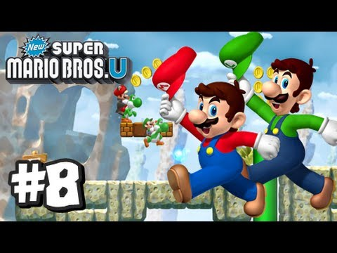 6 1 - This is my HD Let's Play with live commentary of New Super Mario Bros U for the Nintendo Wii U! This is part 8 and in this vid we start off World 6, Rock Can...