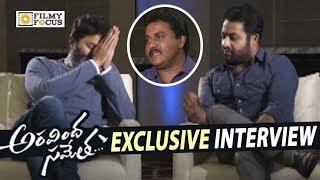 Video NTR and Trivikram Interviewed by Sunil about Aravindha Sametha Movie || Pooja Hegde - Filmyfocus.com MP3, 3GP, MP4, WEBM, AVI, FLV Oktober 2018