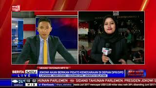 Presiden Joko Widodo akan berpidato di sidang tahunan MPR, DPD, dan DPR 2017 yang digelar di Gedung MPR/DPR, Senayan, Jakarta Pusat hari ini Rabu ...
