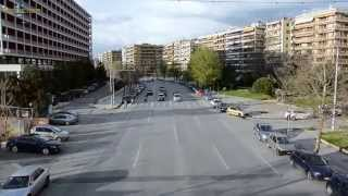 Time lapse in Greece Traffic in Thessaloniki Трафик Суета